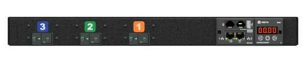 Vertiv UI30024 Stromverteilereinheit (PDU) 1U Schwarz 12 AC-Ausgänge