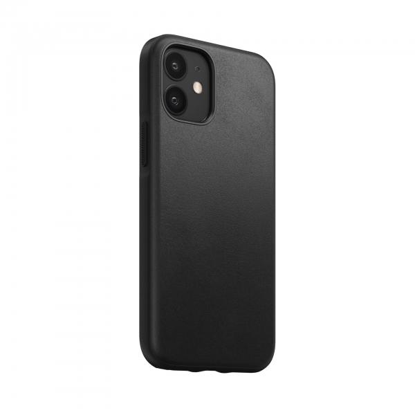 Nomad Rugged Case Black Leather iPhone 12 Mini