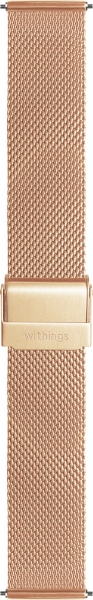 Withings Mesh-Looparmband, 18mm, Steel und Steel HR, Rose Gold
