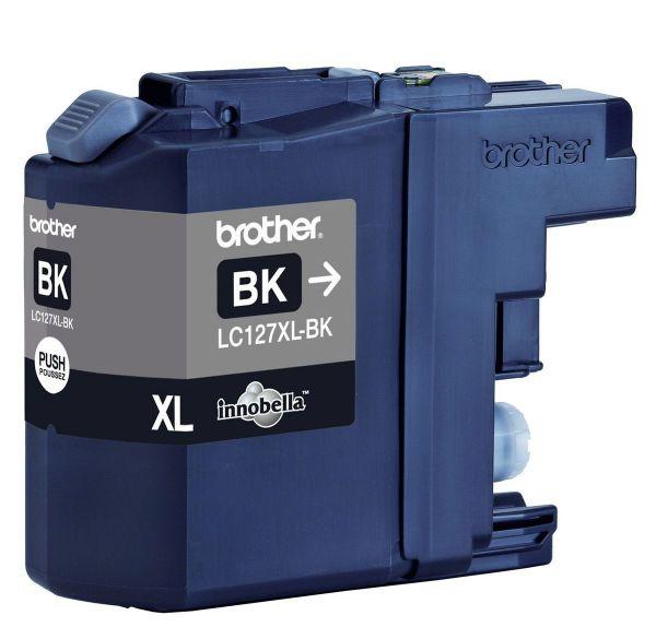 Brother Tintenpatrone LC-127XLBK Schwarz (ca. 1200 Seiten)