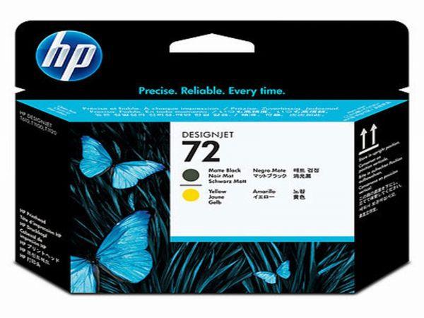 HP Druckkopf Nr. 72 C9384A Schwarz matt/Gelb (ca. k.A. Seiten)