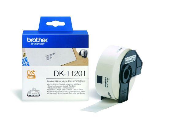 Adressetiketten DK-11201 (400 St.) weiß 29 x 90 mm