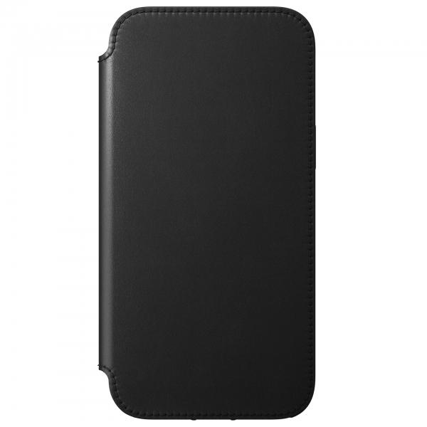 Nomad Rugged Folio Case Black Leather iPhone 12 Pro Max