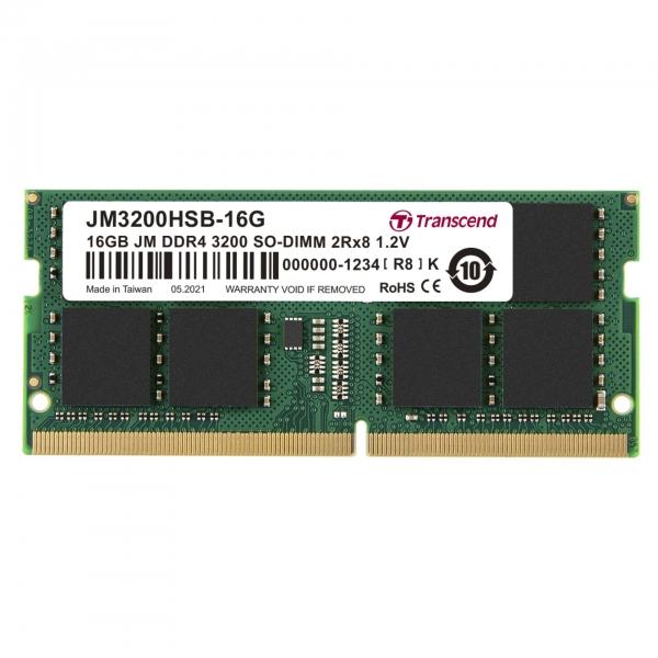 Transcend 16GB DDR4 3200 MT/s SODIMM 260pin 1R x8 unbuffered