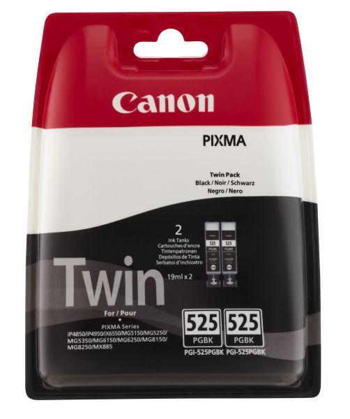 Canon Tintenpatrone PGI-525PGBK Schwarz Doppelpack