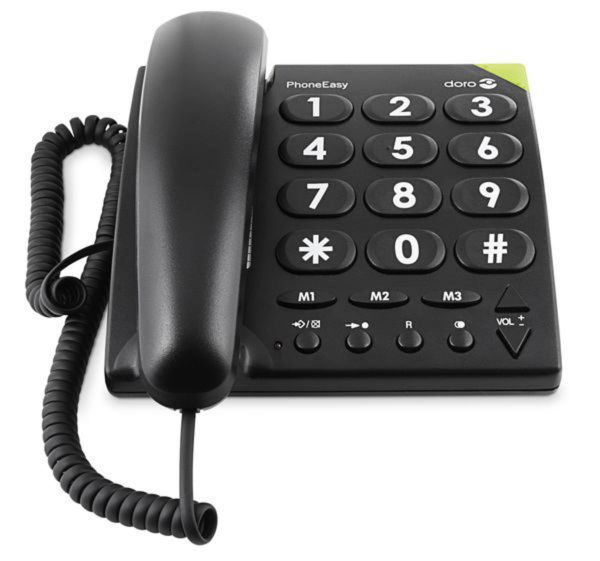 doro Großtastentelefon PhoneEasy 311c schwarz