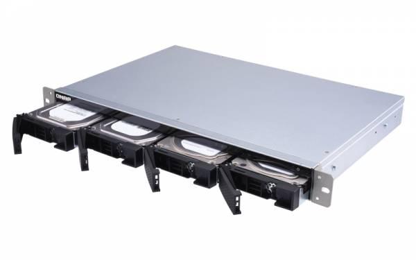 QNAP TS-431XeU Alpine AL-314 Eingebauter Ethernet-Anschluss Rack (1U) Schwarz, Edelstahl NAS