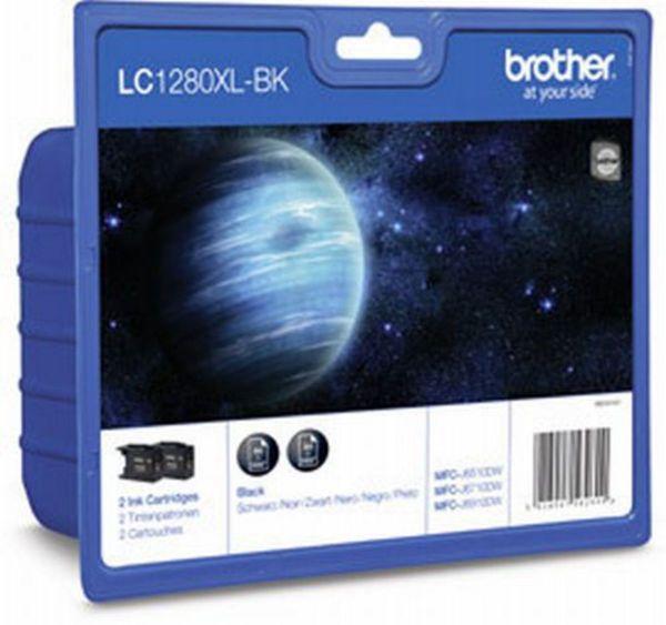 Brother Tintenpatronen LC-1280XL Schwarz Doppelpack