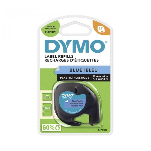 Dymo Letratag Band Plastik blau 12 mm x 4 m