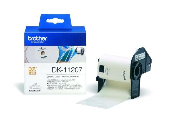 CD / DVD Etiketten DK-11207 (100 St.) weiß Ø 58mm
