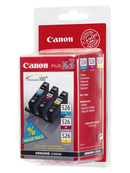 Canon Tintenpatronen CLI-526Z Multipack (C/M/Y)