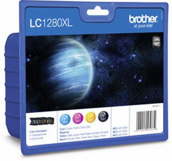 Brother Tintenpatronen LC-1280XL Multipack (je 1x M/C/Y/BK)