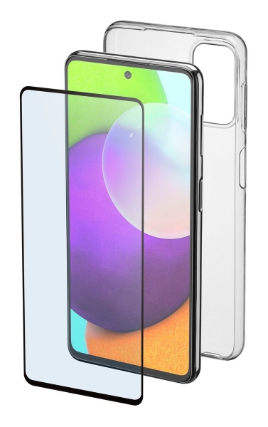 Cellularline Protection Kit Galaxy A52, Clear Case+Glass