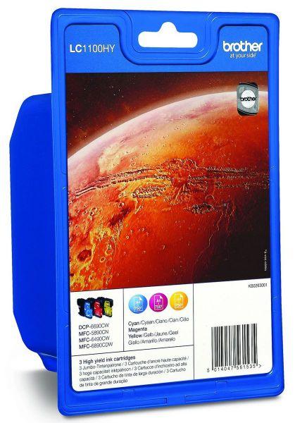 Brother Tintenpatronen LC-1100HY Rainbowkit (je 1x M/C/Y)