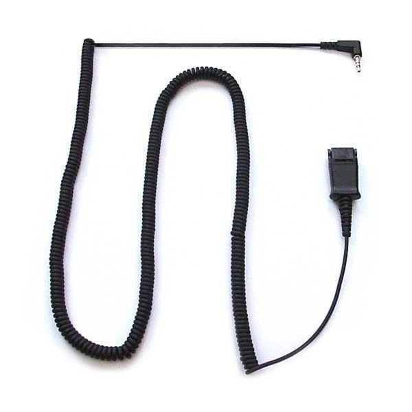 Adapterkabel (3m), 2,5mm-Klinke auf QD, Spiralkabel