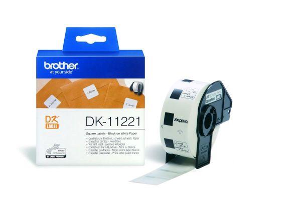 Quadratische Etiketten DK-11221 (1000 St.) weiß 23 x 23 mm