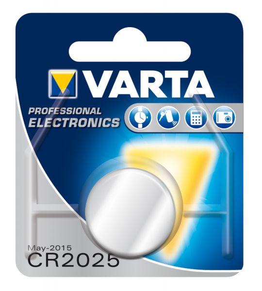 VARTA Knopfzellenbatterie Electronics CR2025 Lithium
