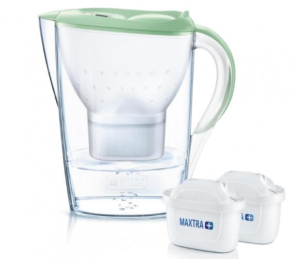 Brita Marella Pitcher-Wasserfilter 2,4 l Grün, Transparent