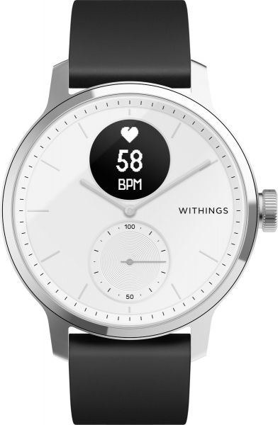 Withings ScanWatch, 42mm white/black