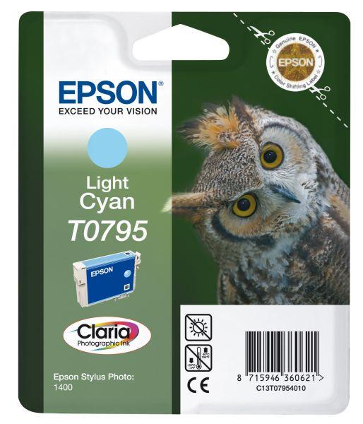 Epson Owl Singlepack Light Cyan T0795 Claria Photographic Ink